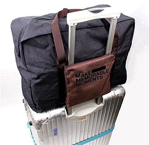 Sacchetti di viaggio portatili pieghevoli in nylon unisex Grande borsa da viaggio valigia integrata borsa da viaggio Business Trip Bagagli aere(orange) navy grey