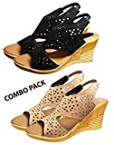 #7: Ziaula Womens and Girls Stylish Casual Wedges Heel Sandal