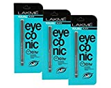 #3: Lakme Eyeconic Kajal (pack of 3) Deep Black, 0.35 g