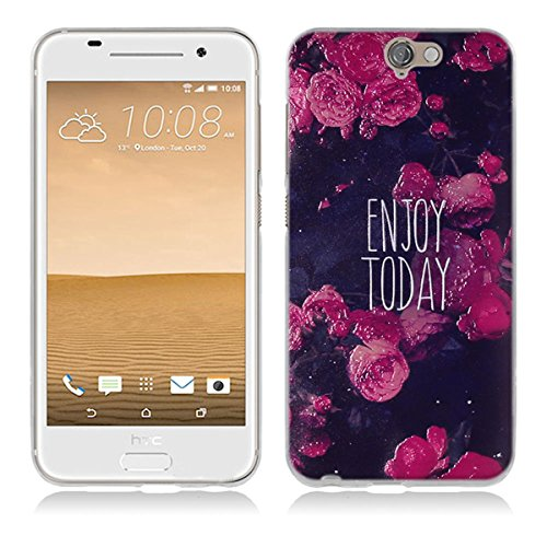 HTC One A9 Hülle, HTC A9 Hülle, Gift_Source [ Genieße den Tag ] Hülle Case Transparent Weiche Silikon Schutzhülle Handyhülle Schutzhülle Durchsichtig TPU Crystal Clear Case Backcover Bumper Case für HTC One A9 (Htc-source-fällen)
