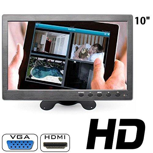 Monitor 10.1 pollici lcd hdmi vga full hd bnc per auto per videosorveglianza