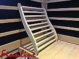 Weigands ergonomische Rückenlehne I Hoher Sitzkomfort I Aus feiner Linde I Weichholz I Korkstopper gegen Verrutschen I Sauna I Saunazubehör I Rückenlehne