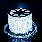 20Mete LED Lichterschlauch Lichtschlauch Lichterkette Licht Leiste 36LEDs/M und Außenbereich Lauflichter für Saal,Garten, Weihnachten, Hochzeit,Partyund Innen Kaltweiß