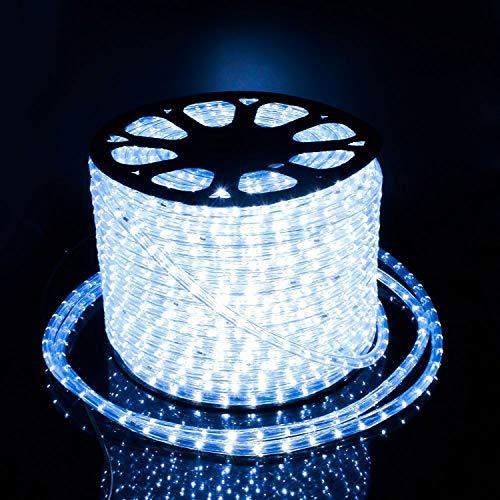 hlauch Lichtschlauch Lichterkette Licht Leiste 36LEDs/M und Außenbereich Lauflichter für Saal,Garten, Weihnachten, Hochzeit,Partyund Innen Kaltweiß ()