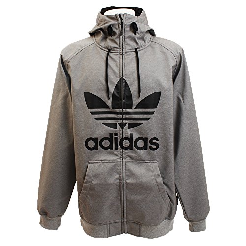 adidas Herren Grley Soft Shell Sweatshirt, Schwarz, L