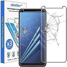 ebestStar - para Samsung Galaxy A8 2018 A530F [Dimensiones PRECISAS de su aparato : 149.2 x 70.6 x 8.4 mm, pantalla 5.6''] - Pack x3 Película protectora de pantalla de Vidrio Templado - Cristal protector contra rotura y rayas [Nota Importante Leer descripción]