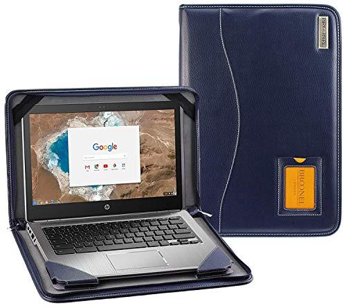 "Broonel - Contour Series - Blau Leder Laptop Fall/Hülse Kompatibel mit dem HP EliteBook 1050 G1 15.6"" 4K UHD Laptop"