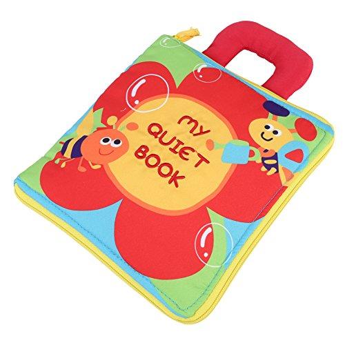 Zerodis Stoffbuch Baby Kleinkind Pädagogisches Spielzeug Stoffspielzeug für Baby Shower Geschenke Weich Ungiftig