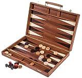 Backgammon Square - Exclusive - 38 x 38 cm - Mahagoni - Intarsie