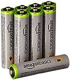 AmazonBasics - Juego de 8 pilas recargables AAA Ni-MH (precargadas, 500 ciclos, 850mAh, mínimo...