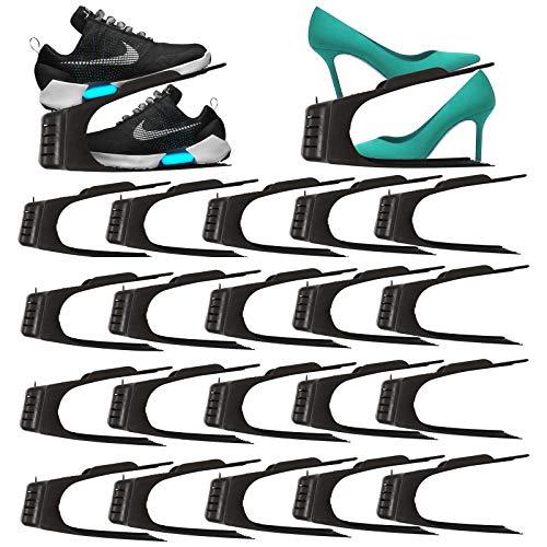 HAC24 20er Set Schuhe Organizer Aufbewahrung | Schuhhalter Schuhstapler Schuhorganizer |...