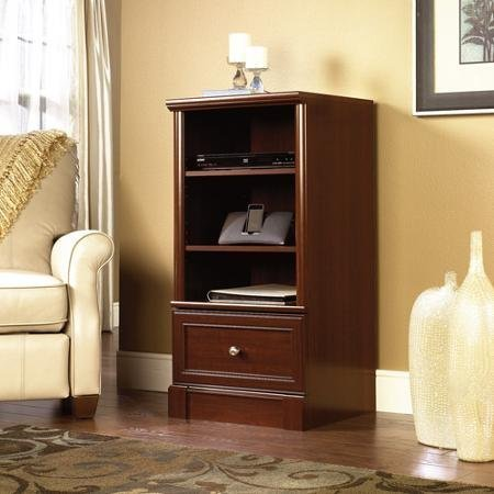 adjustable-shelves-palladia-audio-media-tower-cherry-by-sauder