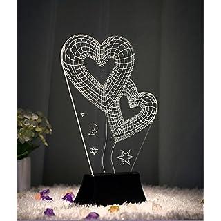 Fletion 3D Dekorative Tischlampe Kreativen LED Lampe Blumen-Form Lichteffekt, USB Leuchten, für Valentinstag Weihnachten Party EINWEG Verpackung