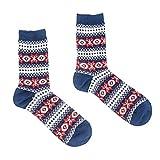 Wenquan,10 paires de chaussettes japonaises d'automne et d'hiver japonaises(color:Talon bleu,size:25-27cm)