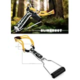 SHOPEE BRANDED NO.4 Outdoor Aluminium Alloy Powerful Sling Shot Folding Wrist Camouflage Bow Slingshots Catapult for Outdoor Games Tools For Hunting