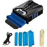 KLIM Cool Refroidisseur PC Portable Gamer - Ventilateur Haute Performance Pour Refroidissement Rapide - Extracteur d'Air Chaud USB Bleu