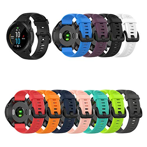 Preisvergleich Produktbild Duk3ichton Uhrenarmband Silikon-Uhrenarmband Für Garmin Forerunner945 / MARQ / Fenix5 Plus / Approach S60 Dunkelviolett