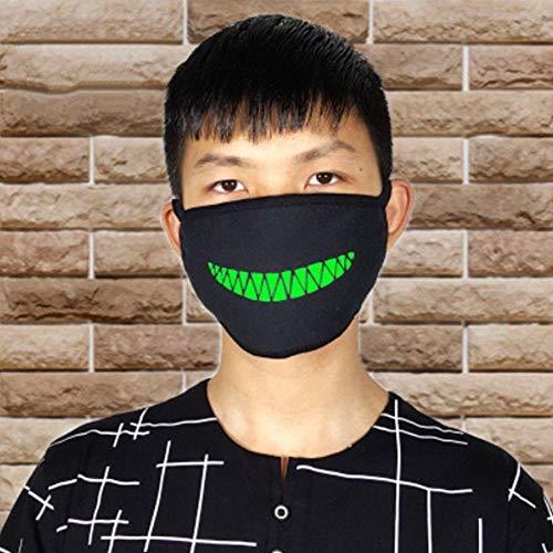 ZXIU Masken für Kostüme Cartoon Gesicht Mund Masken Unisex Party Leucht Masken Dekor Radfahren Anti-Staub Staubdicht Mund - Anti Zombie Kostüm