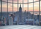 1 Wall nicht Gewebt Empire State Building Window View Wand einkleistern Wandbild, Holz, Schwarz und weiß, 3,6x 2,53m