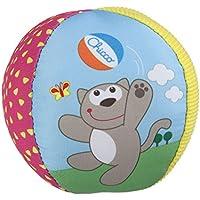 Chicco - Pelota suave y ligera para bebés con divertido sonido de sonajero