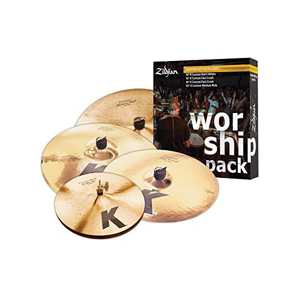 ZILDJIAN Cartone 5 K Custom Worship (KC0801W): ride + hi-hat + 2 crash