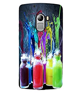 ColourCraft Colour Bottles Design Back Case Cover for LENOVO A7010