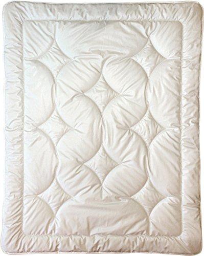 Billerbeck Leichtsteppbett Organic Wolle wollweiß Größe 100x135 cm