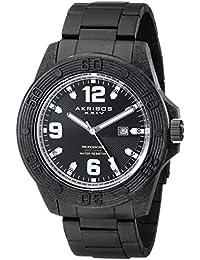 Akribos Extremis AK797WT Sunburst Dial 17 mm Reloj de Hombre, Negro