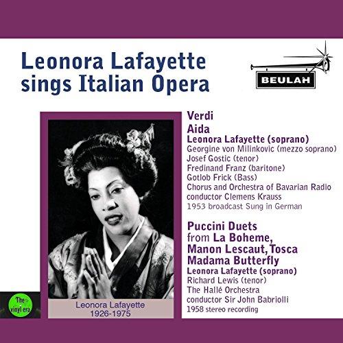 Leonora Lafayette Sings Italian Opera