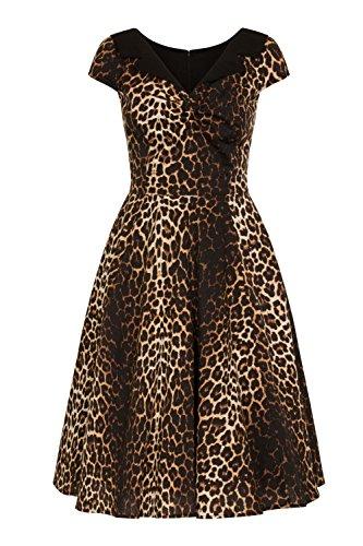 Hell Bunny Panthera Leopard Robe de Retro Années 50 - (S - 38)