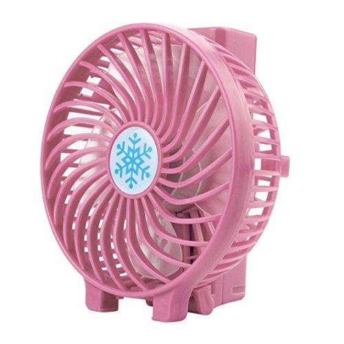 SUCES USB Handventilator Leise Mini Handventilator Batterie Tragbarer Mini Lüfter Elektrischer Faltbar Handheld Fan wiederaufladbar tragbar Kühlung Fan Geschenk für Sommer (Pink)