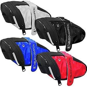 VeloChampion Slick Pack de asiento de bici - Bolsa para sillin de bici (Blanco)