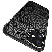 Spigen Liquid Air, Designed for iPhone 11 Case, Ergonomic Grip Pattern Etched Case for iPhone 11 (2019) - Black