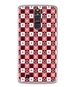 FUSON Designer Back Case Cover for LG K7 :: LG K7 Dual SIM :: LG K7 X210 X210DS MS330 :: LG Tribute 5 LS675 (Seamless Pattern Blue Design Drawing )