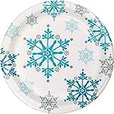 MaiYY WH Vassoio di Fiocchi di Neve di Natale Monouso Tray Party Party Dinner Piatti Blu