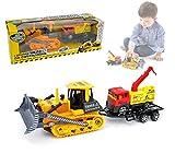MEDIA WAVE store 033743 Set Grandi mezzi da Costruzione Giocattolo ruspa con Camion