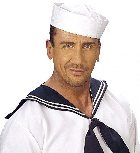 ütze weiß Seemann Matrose Matrosin Sailor Marine Hut Schiffchen Kostüm-Zubehör Kopfbedeckung ()