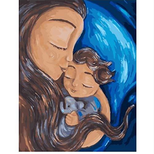 XIGZI Mutterschaft Abtract Figur Malerei Malen Nach Zahlen Handgemalte Leinwand Ölgemälde Für Wohnzimmer Wohnkultur 40x50 cm
