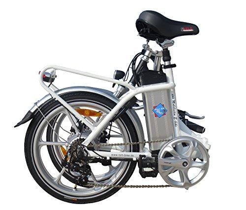 Hochwertiges RSM Elektro Klappfahrrad Mobilist 20' E- Bike Pedelec Farbe weis