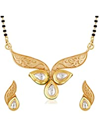 Meenaz Traditional Jewellery One Gram Matt Gold Plated Stylish Mangalsutra Jewellery Sets Earring For Women Party...