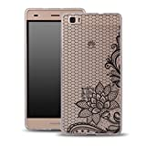 OOH!COLOR® FITTY para HUAWEI G8 Funda Silicona Mujer Moda MGL021 Encajes Fashion Etui Carcas...