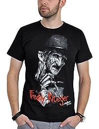 T-shirt Freddy Krueger Les Griffes de la Nuit haute qualité coton noir