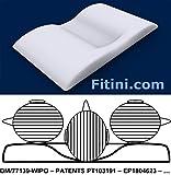 Oreiller anti-ronflements anti-apnée antivieillissement orthopédique de Fitini.com – inclus une APP pour réduire l'apnée du sommeil