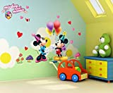 #4: Oren Empower Famous Cartoon Large Wall Sticker For Kids (Finished Size On Wall - 120(W) X 75(H) Cm)