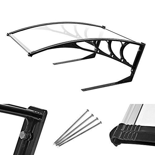 Melko® Garagendach Sonnenschutz Carport für Mähroboter Rasenroboter, 96,5 x 79 x 43 cm