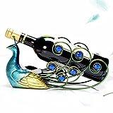 CJH Ornamenti cremagliera vino europeo creativo moderno minimalista personalità bottiglia di vino cremagliera vino decorazioni ornamenti