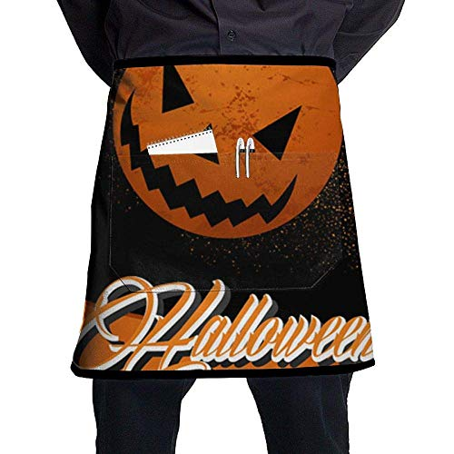 Halloween Happy Party Waist Aprons Commercial Restaurant Home Bib un Poly Polyester Kitchen Unisex