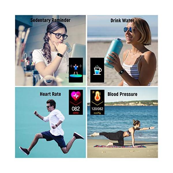 TagoBee TB14 Pulsera Actividad Fitness Trackers IP68 Waterproof Smart Band 1.14'' LCD Color Screen Sport Smart Brazalete… 6