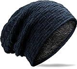 MUCO Wintermütze Herren Damen Beanie, Unisex Winter warme Gestrickte Slouch Beanie mütze, Futter Schädel für Männer Frauen, tiefes Blau