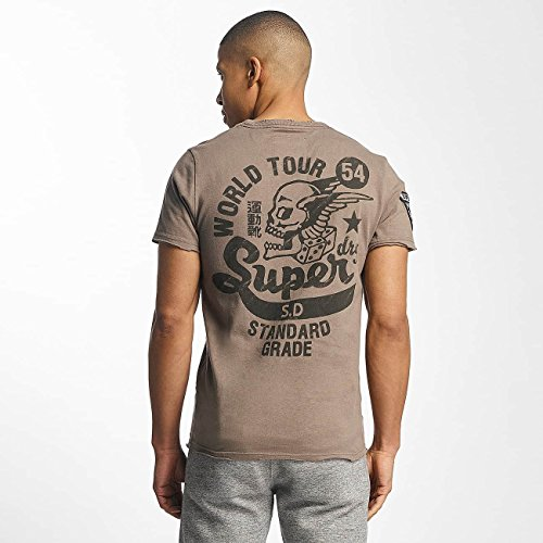 Superdry Uomo Maglieria/T-Shirt World Tour Marrone